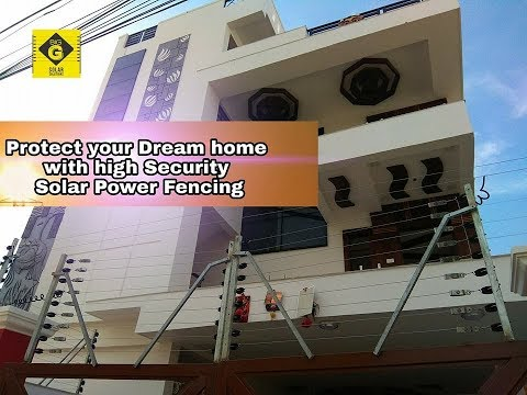 How is solar power fencing works//Call 8885572188, this number if you want
