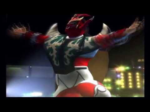 獣神サンダーライガー 入場曲『怒りの獣神』レアコスチューム赤白 入場シーン 3【オールスタープロレスリング】