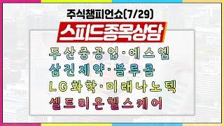 [#주챔쇼] 스피드 종목상담|두산중공업, 에스엠, 삼진…