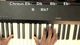V  Bozeman What is Love Piano Tutorial