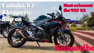 Best exhaust system for Yamaha R3|Speed run with Akrapovic Slip on