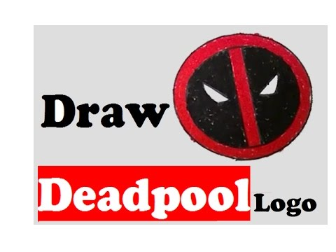 how to draw deadpool logo step by step deadpool logo easy to draw deadpool logo design youtube