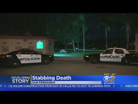 Man Found Stabbed To Death In San Fernando Park