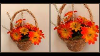 Магнит корзинка с цветами из яичных лотков своими руками / Diy magnet basket from egg carton