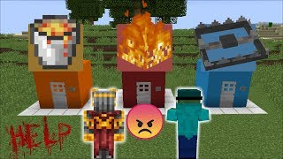 DON'T CHOOSE THE WRONG SPOOKY TRAP HOUSE IN MINECRAFT!! MARK FRIENDLY ZOMBIE HELPS!! Minecraft Mods