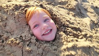 Download lagu PiRATE BEACH we buried ADLEY!! new lake surprises, making sand castles, and bedtime routine reviews!