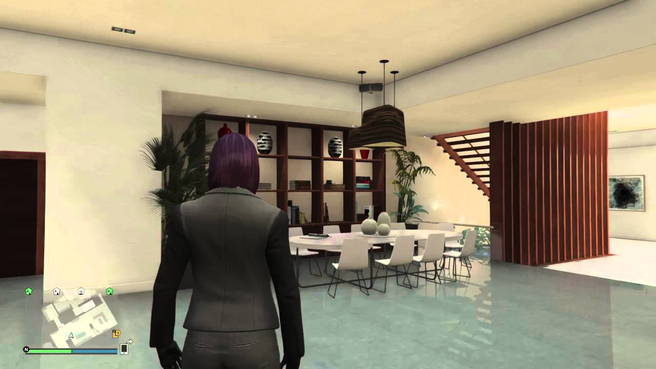 Gta v online penthouse apartment designs modern 1 of 8 for Modern design apartment taurito
