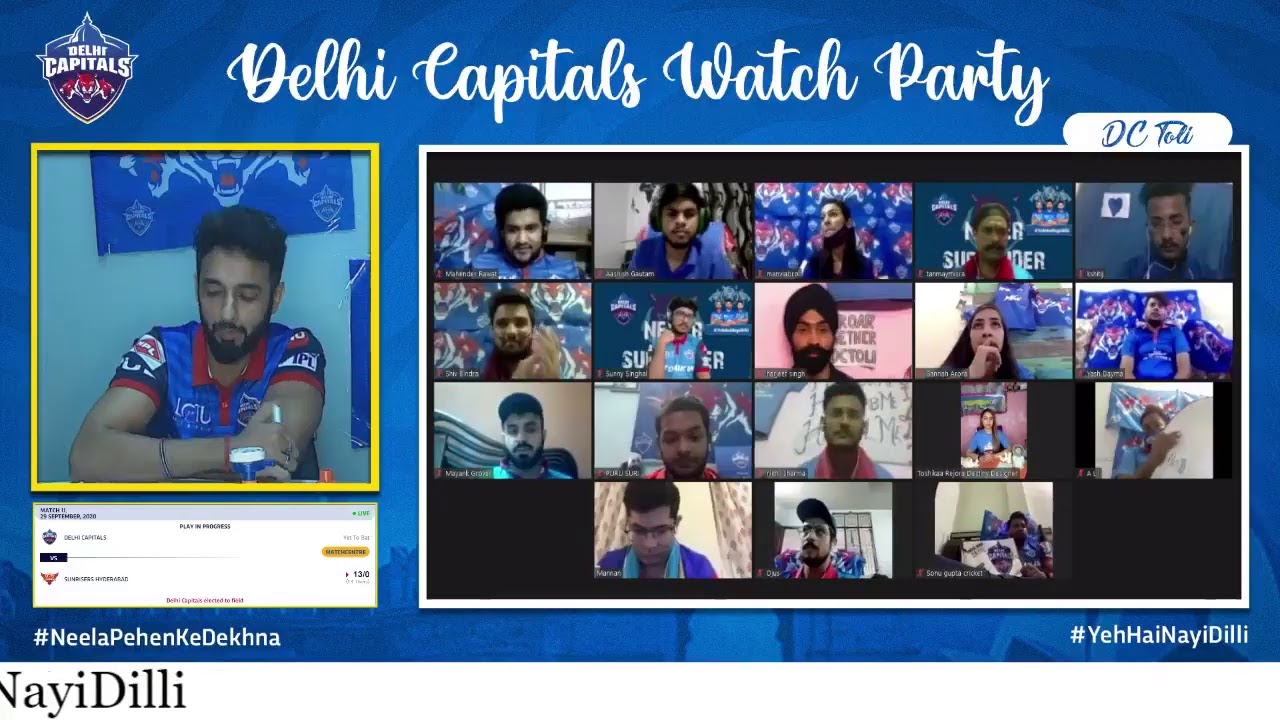 Watch Party ho toh aisi 😉🕺🏻  Roar together with us on @DelhiCapitals' YT,FB and Twitter and Websi