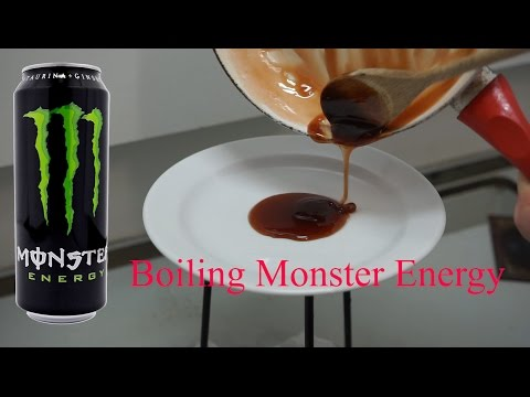 Boiling Monster Energy Drink (Green) Must Watch!