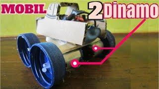 Membuat Mobil Mainan Listrik Tutup Botol Plastik Dengan Double Dinamo