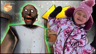 Убегаем с Миланой от Гренни и паука, выполняем миссию granny horror game fgteev