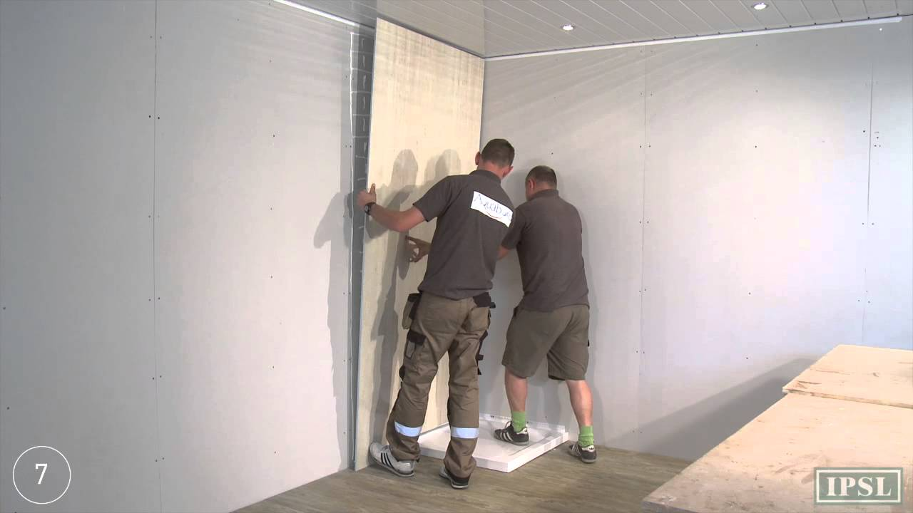 Shower wall panels how to install aquabord laminate - Laminate tiles for bathroom walls ...