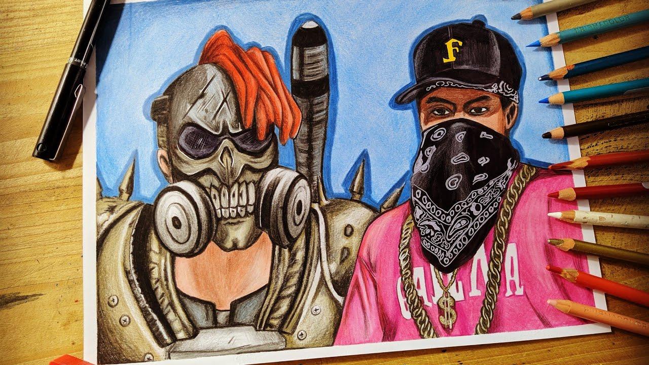 Dibujando La Skin Hip Hop Y Destructor Dibujos De Free Fire