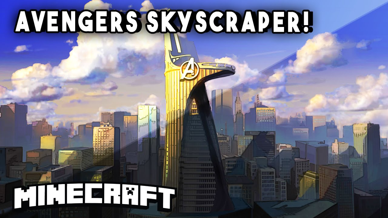 Minecraft Skyscrapers - AVENGERS 2 TOWER! (Stark Skyscraper) || Minecraft Maps - YouTube