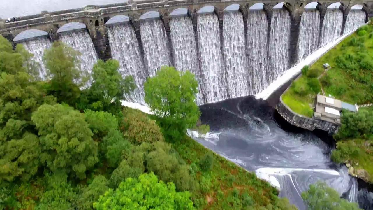 The Elan Valley Dams And Reservoirs Filmed Dji Phantom 4
