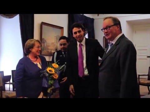 Visita del Partido Liberal de Chile a Michelle Bachelet