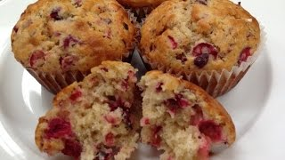 Amazing Cranberry Muffins For Christmas EASY!!!!!
