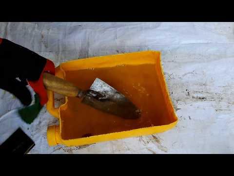 Rust Removal Using Salt Water | Restoration Rusty Tools | Brick Trowel Restoration