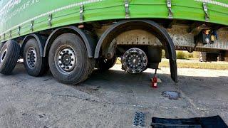 Первый ремонт новой фуры: отказ ручника, замена колеса...
