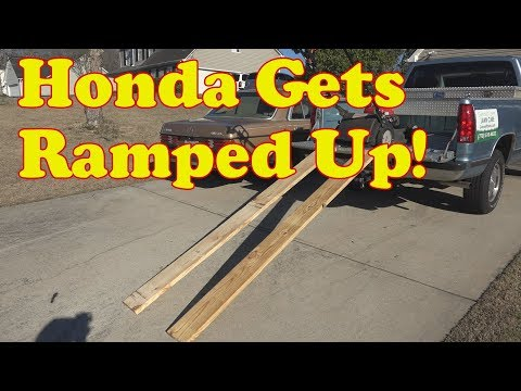 The Honda HRX 217 gets ramped up, how to build cheap ramps