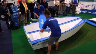 Folding Boat, Unfolded in 40 seconds! Only with Quickboats.