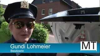 Mit New Yorker Polizeiauto im Mühlenkreis unterwegs