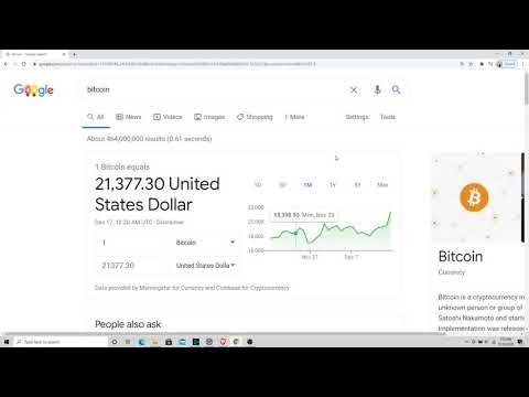 1 Bitcoin Equals $21,377 USD!!! New Bitcoin All Time High Value