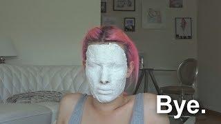 Ich gipse mein Gesicht.