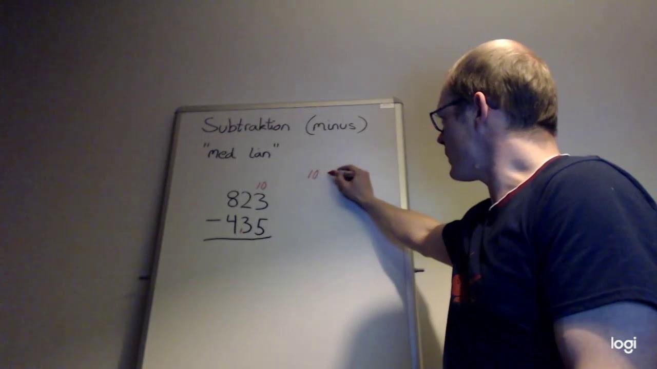 Subtraktion (minus) med lån