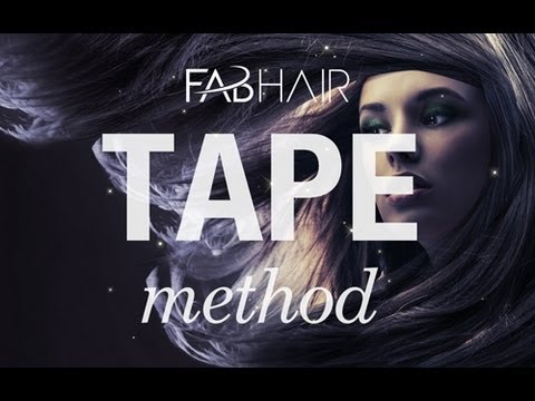 HOW TO DO HAIR EXTENSIONS TAPE IN METHOD FROM FABHAIRCOM