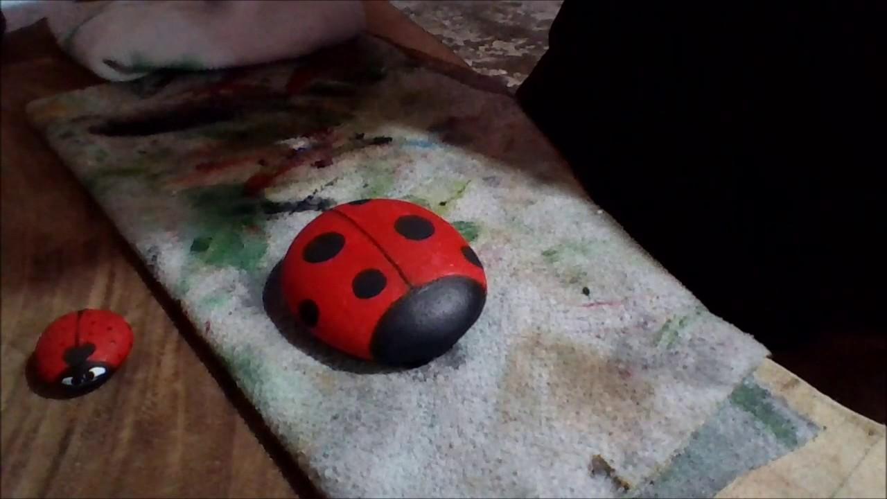 Como Pintar Una Catarina En Piedra