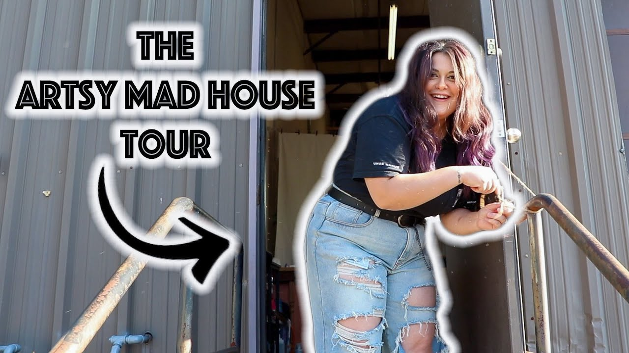 THE ARTSY MAD HOUSE TOUR! Showing You Around My Art Studio!