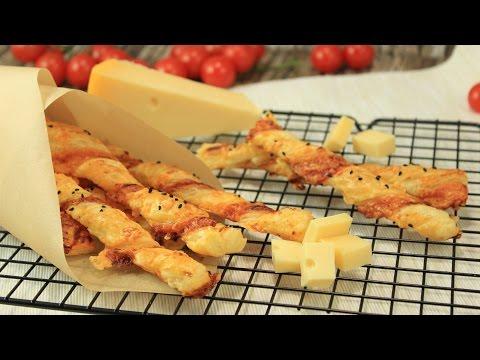 Käse-Knusper-Stangen | Knabber-Gebäck