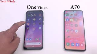 SAMSUNG A70 vs Motorola One Vision | Speed Test