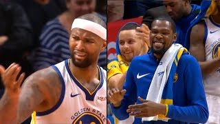 DeMarcus Cousins gets standing ovation from Warriors bench & Clippers crowd after fouled out