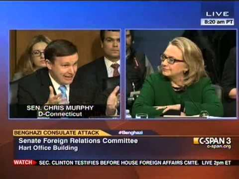 Senator Murphy speaks with Secretary Clinton in Senate Foreign Relations Committee Hearing