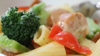Chicken Sausage & Broccoli Rigatoni With Cookingandcrafting