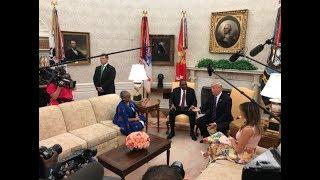 President Uhuru Kenyatta received by President Donald Trump at the White House