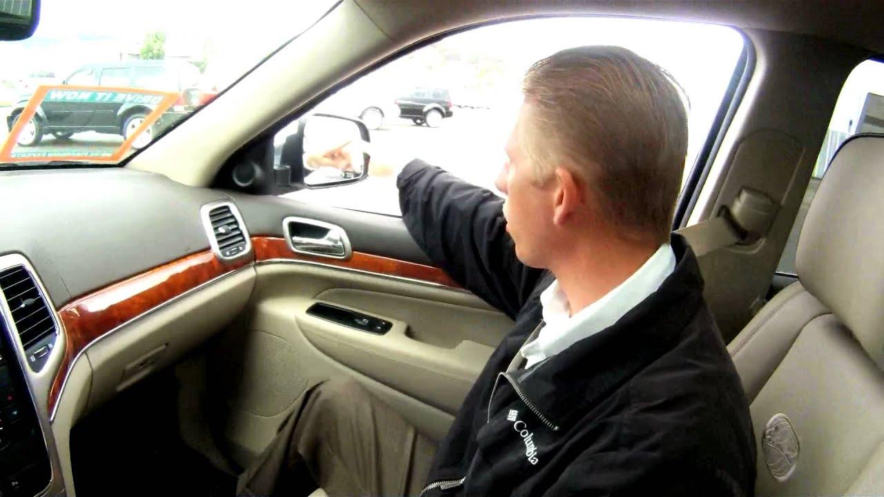2012 Jeep Grand Cherokee Blind Spot Monitoring | Roseburg Chrysler Jeep Dodge - YouTube