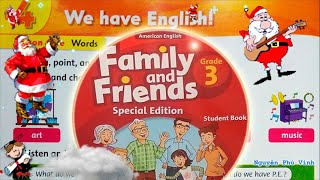Trọn bộ Family and Friends 3 🍅🌺🎒 Unit 4 : We have english | Tiếng anh lớp 3
