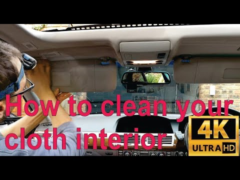 How to clean your cloth interior with vinegar! (after sunroof water leak) (BMW)