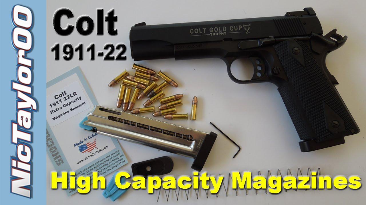 Colt 1911 Gold Cup 17 Round Magazine Upgrades