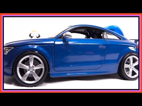 Kid's Toy Construction: SUPERHEROES AUDI - Car CRASH Demo!