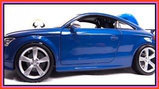 Kid's Toy Construction: Superheroes Audi - Car Crash Demo (детский автомобиль) Cartoons For Children