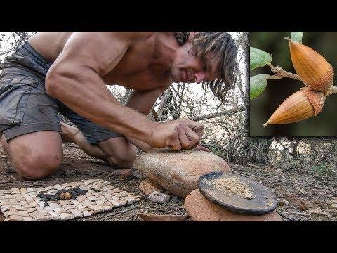Making Primitive Acorn Pancake