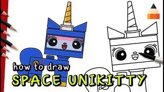 Unikitty Coloring Pages | Drawing Cat For Kids | Draw Lego Minifigures