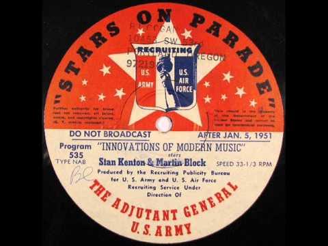 INNOVATIONS IN MODERN MUSIC FOR 1950 by Stan Kenton (Jazz Radio Program)