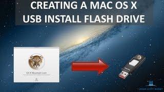 How to Create an OS X 10.8 Mountain Lion Install USB