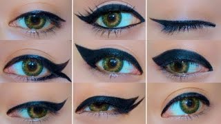 9 Different Eyeliner Looks(Hello my beautiful people! Today I show you guys how to create 9 different eyeliner looks. The looks range from quite simple to major drama. I hope you guys ..., 2013-08-19T08:09:12.000Z)