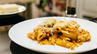 Макароны с колбасками в томатном соусе - One Pot Pasta